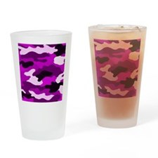 Purple Camo Drinking Glass
