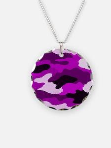 Purple Camo Necklace