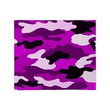 Purple Camo Throw Blanket