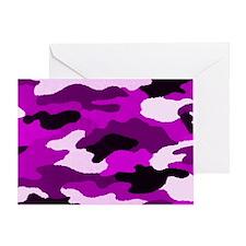 Purple Camo Greeting Card