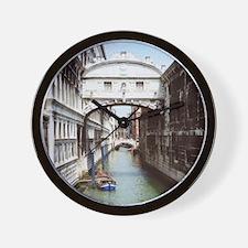 Bridge of Sighs or Ponte Dei Sospiri in Wall Clock