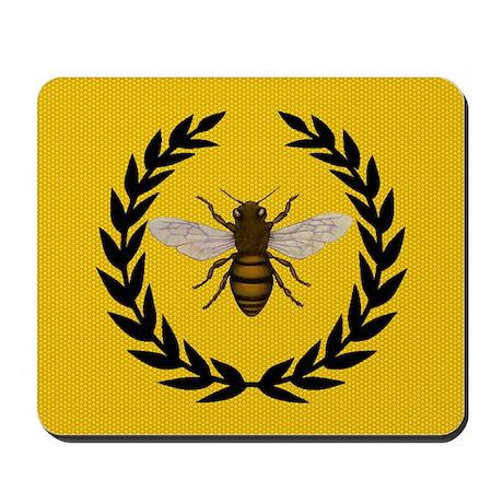 Stylized Bee_N_Honeycomb Mousepad