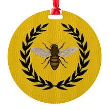 Stylized Bee_N_Honeycomb Ornament