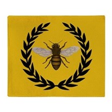 Stylized Bee_N_Honeycomb Throw Blanket