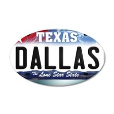 texas-licenseplate-dallas Wall Decal