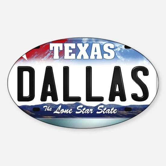 texas-licenseplate-dallas Sticker (Oval)