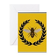 Stylized Bee_Pillow Greeting Card