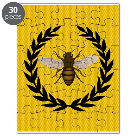 Stylized Bee_Pillow Puzzle