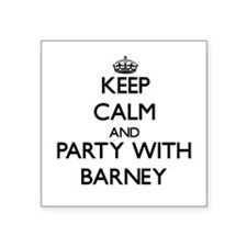 Keep Calm and Party with Barney Sticker