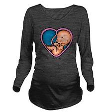 love-factory2-T Long Sleeve Maternity T-Shirt
