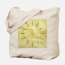 Theater-Mask-clockLARGEST Tote Bag