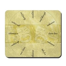 Theater-Mask-clockLARGEST Mousepad