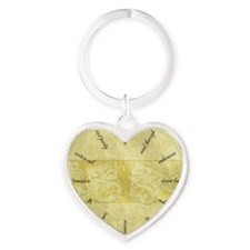 Theater-Mask-clockLARGEST Heart Keychain