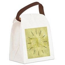 Theater-Mask-clockLARGEST Canvas Lunch Bag