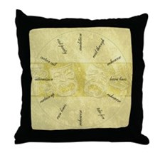Theater-Mask-clockLARGEST Throw Pillow
