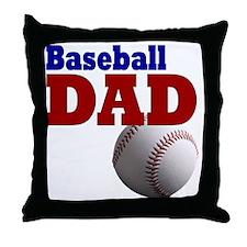 Baseball Dad Throw Pillow
