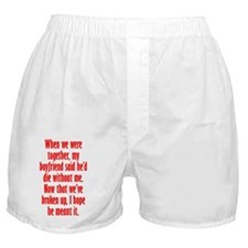 diewithoutBF_tall2 Boxer Shorts