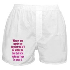 diewithoutBF_tall1 Boxer Shorts