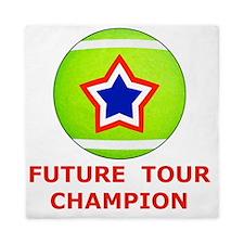 Future Tennis Champion T-Shirts for Ki Queen Duvet
