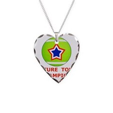 Future Tennis Champion T-Shir Necklace Heart Charm