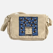 Bees and Beehive Messenger Bag
