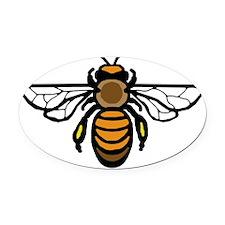 Big Bee Oval Car Magnet