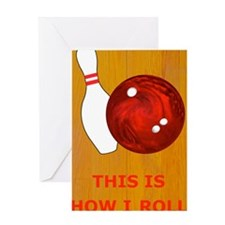 Bowling Theme Itouch2 Itouch4 Ipod C Greeting Card