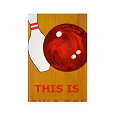 Bowling Theme Itouch2 Itouch4 Ipo Rectangle Magnet