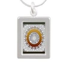 Cherokee Nation3 Silver Portrait Necklace