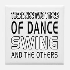Swing Dance Designs Tile Coaster