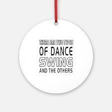 Swing Dance Designs Ornament (Round)