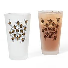 Big Bee Swarm Drinking Glass