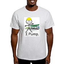 Concrete Pumping Ash Grey T-Shirt