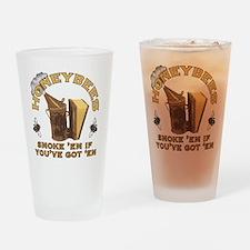 Honeybees Smoke Em Drinking Glass