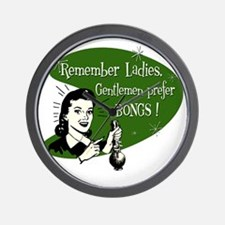 GENTLEMEN_PREFER_BONGS Wall Clock