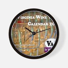 VA Winery Views Calendar Cover Wall Clock