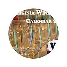 "VA Winery Views Calendar Cover 3.5"" Button"