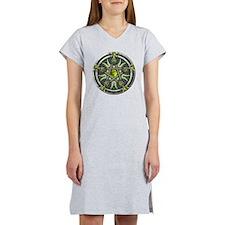 Green Moon Pentacle Women's Nightshirt