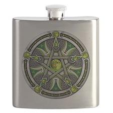 Green Moon Pentacle Flask