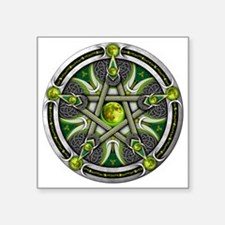 "Green Moon Pentacle Square Sticker 3"" x 3"""