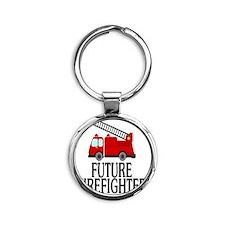 FUTURE FIREFIGHTER Round Keychain