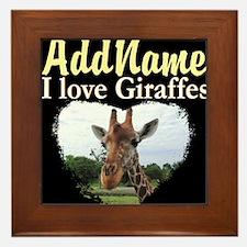CUTE GIRAFFE Framed Tile