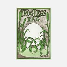 Frog Legs Rag Rectangle Magnet