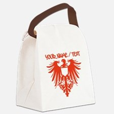 Red Polish Eagle Canvas Lunch Bag