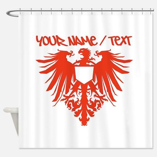 Red Polish Eagle Shower Curtain
