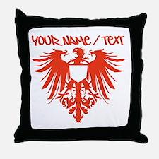 Red Polish Eagle Throw Pillow