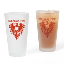Red Polish Eagle Drinking Glass
