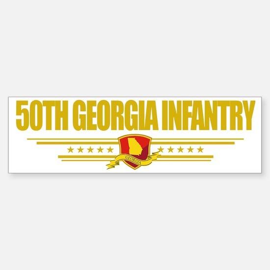 50th Georgia Infantry (Flag 10) p Sticker (Bumper)