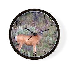 deer sign Wall Clock