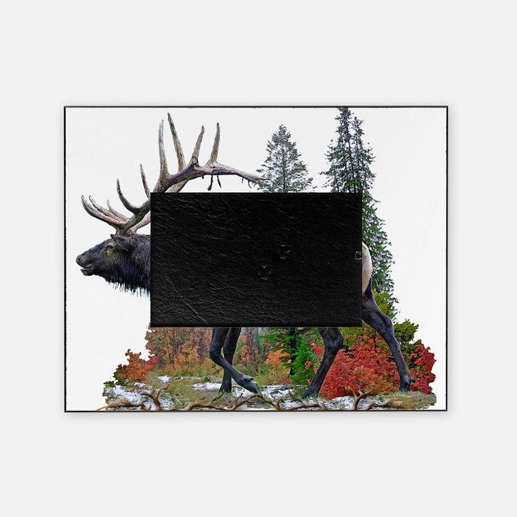 Bull elk Picture Frame